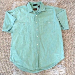 ❤️3/15 Eddie Bauer Northwest Chambray Button Shirt